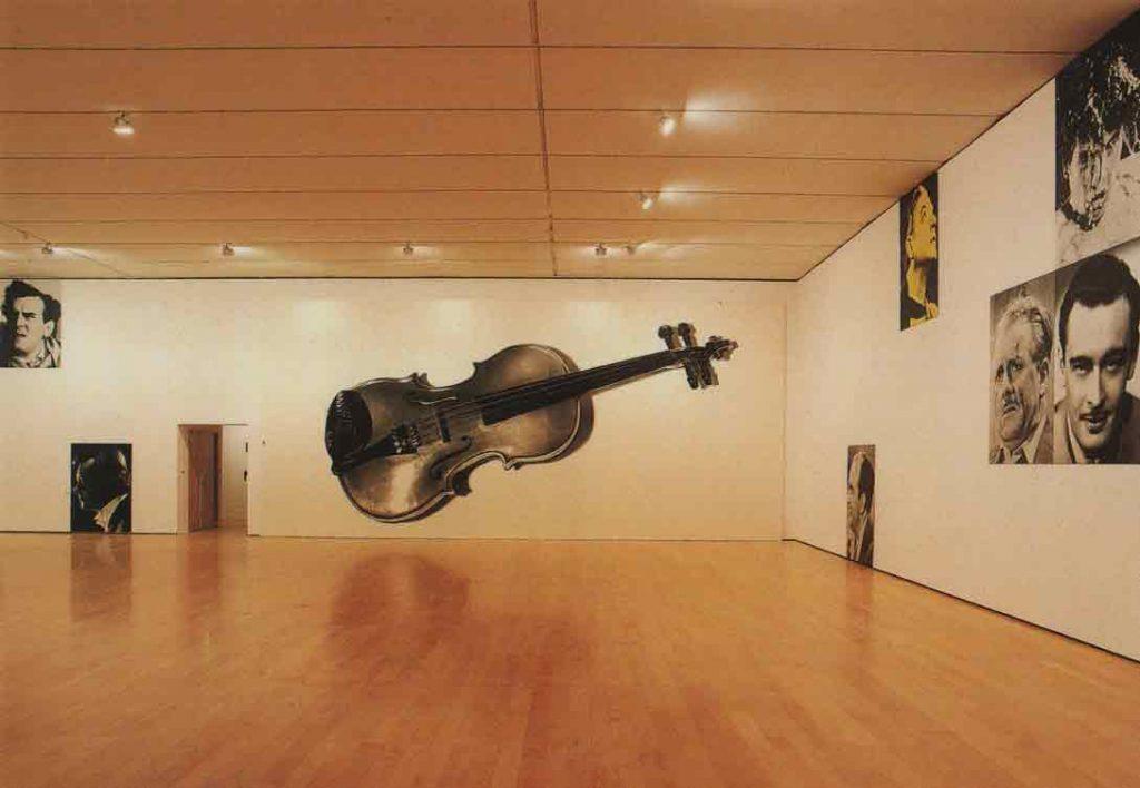 Indexation : Composition for violin and voices (Male), 1987##Auteur : John Baldessari (1931-2020)##Editeur : Musée d'Art Contemporain, Lyon##Epoque : Moderne##Propriété : Pei-001-mdv