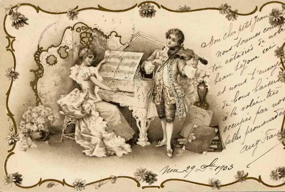 Indexation : Violoniste claveciniste##Epoque : 1903 (manuscrit)##Propriété : Des-009-mdv