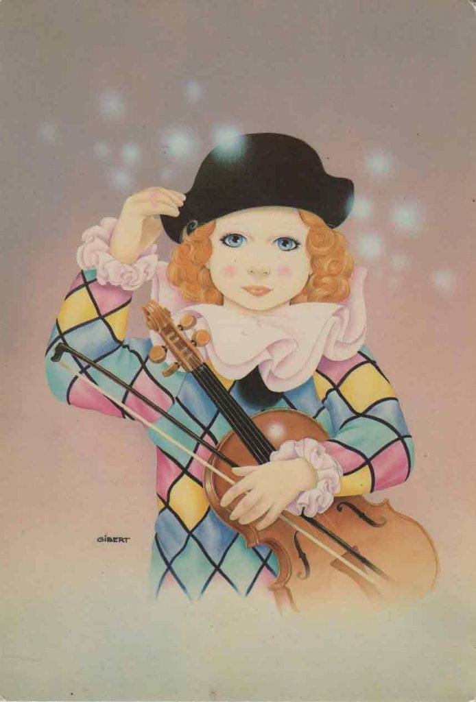 Indexation : Pierrot##auteur : Gibert##Editeur : Pierrot baby love, cp 308##Epoque : Moderne##Propriété : Fan-002-mdv