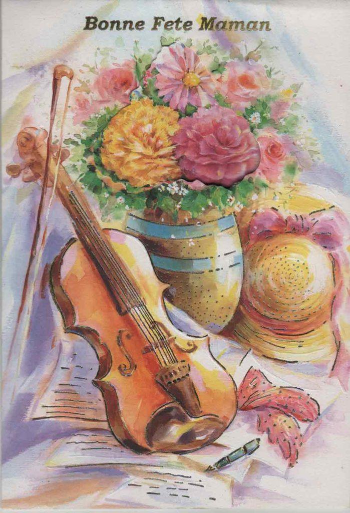 Indexation : Carte de fête des Mères##Légende : Bonne fête Maman##Epoque : Moderne##Propriété : Fan-004-mdv