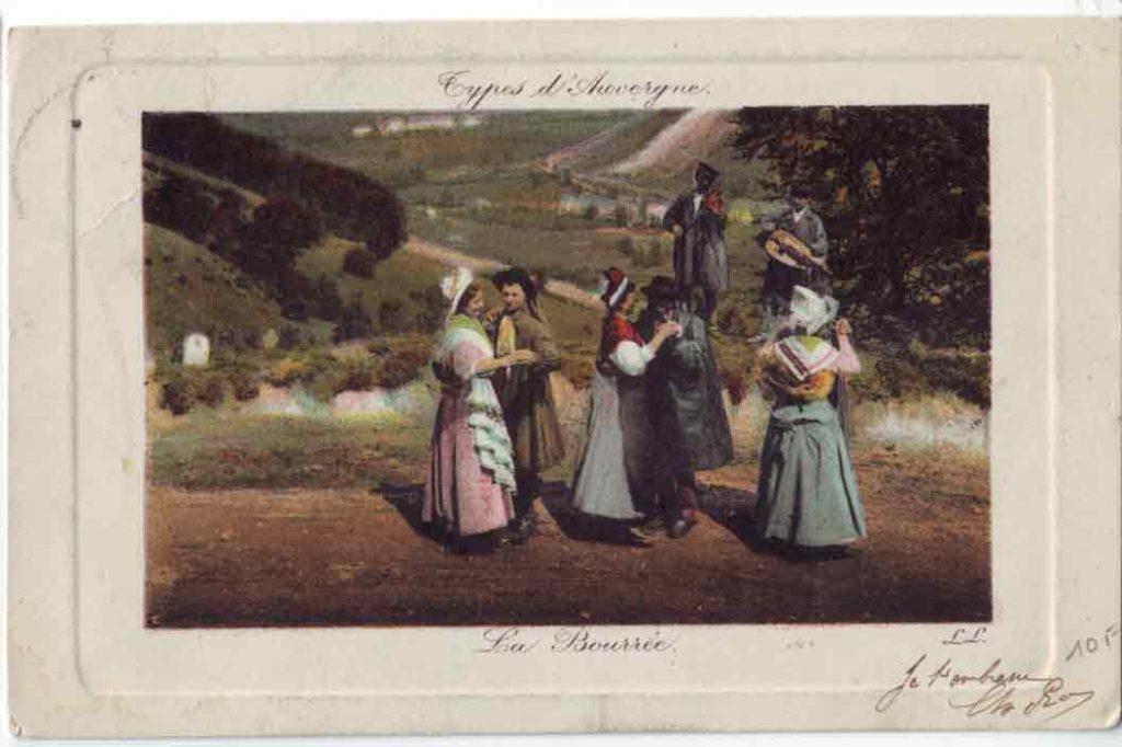 Indexation : Bourrée d'Auvergne##Violon et vielle à roue##Légende : Type d'Auvergne La Bourrée##Editeur : LL.##Epoque : Ancienne##Propriété : Folk-015-JLR