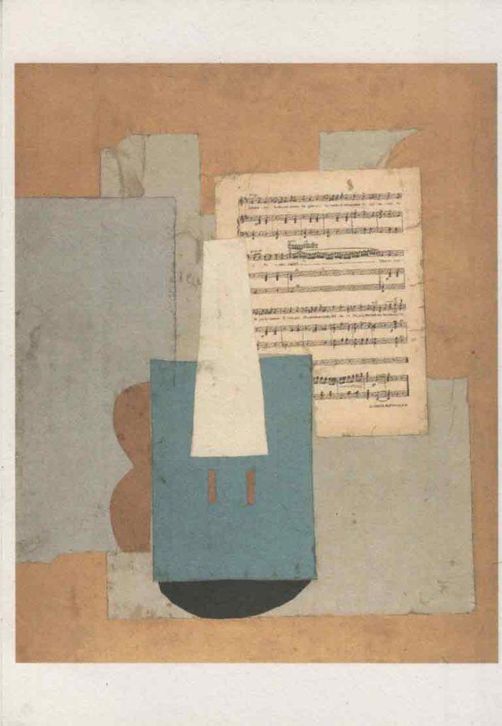 Indexation : Violon et feuille de musique, automne 1912##Carton, gouache, papiers collés##78 x 63,5 cm##Auteur : Pablo Picasso (1881-1973)##Editeur : Réunion des musées nationaux##Epoque : Moderne##Propriété : Pei-006-mdv