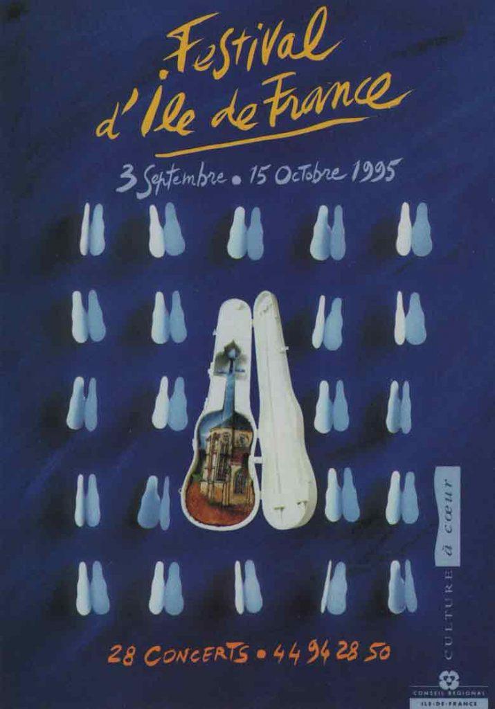 Indexation : Festival D'Île de France, 1995##Editeur : Conseil Régional d'Île de France##Epoque : Moderne##Propriété : Pub-002-mdv