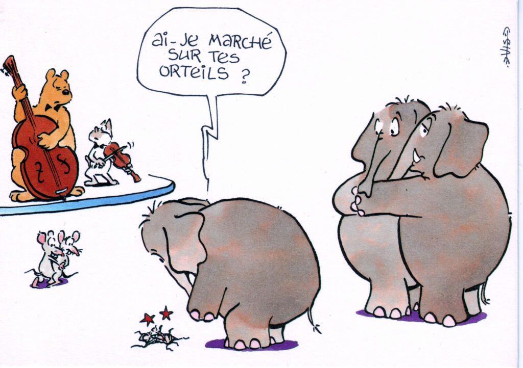 """Indexation : Chat##Légende : """"Ai-je marché sur tes orteils ?""""## Auteurs : Vis (?)##Epoque : Moderne##Propriété : Ani-025-Roy"""