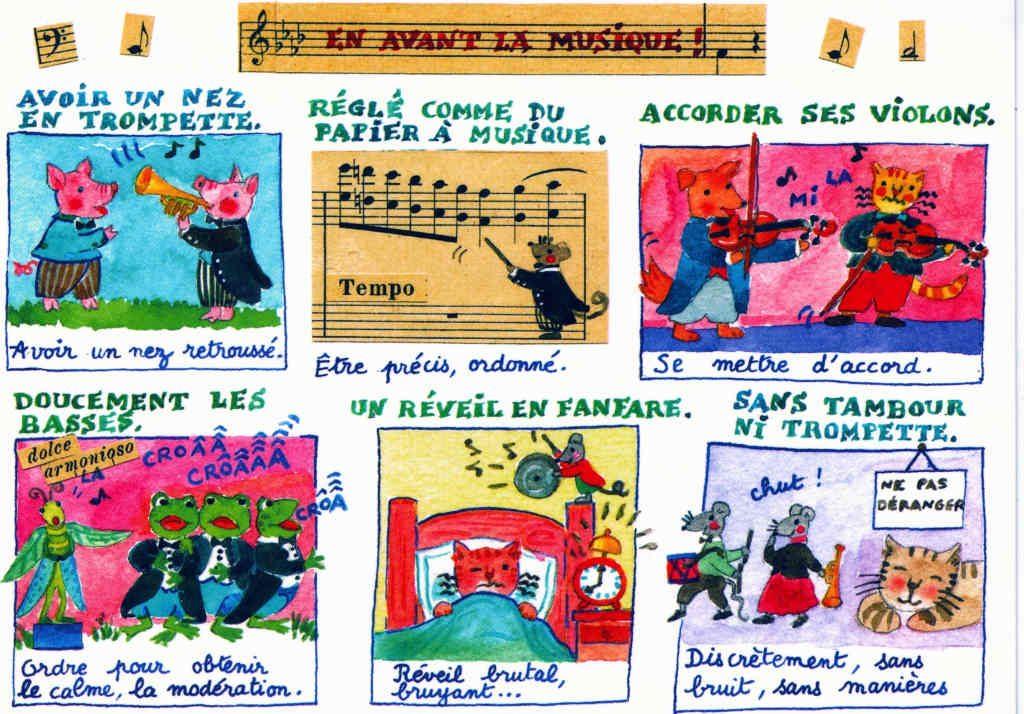 Indexation : Chat## Légende : En avant la musique !##Accorder ses violons##Epoque : Moderne##Propriété : Ani-029-Roy