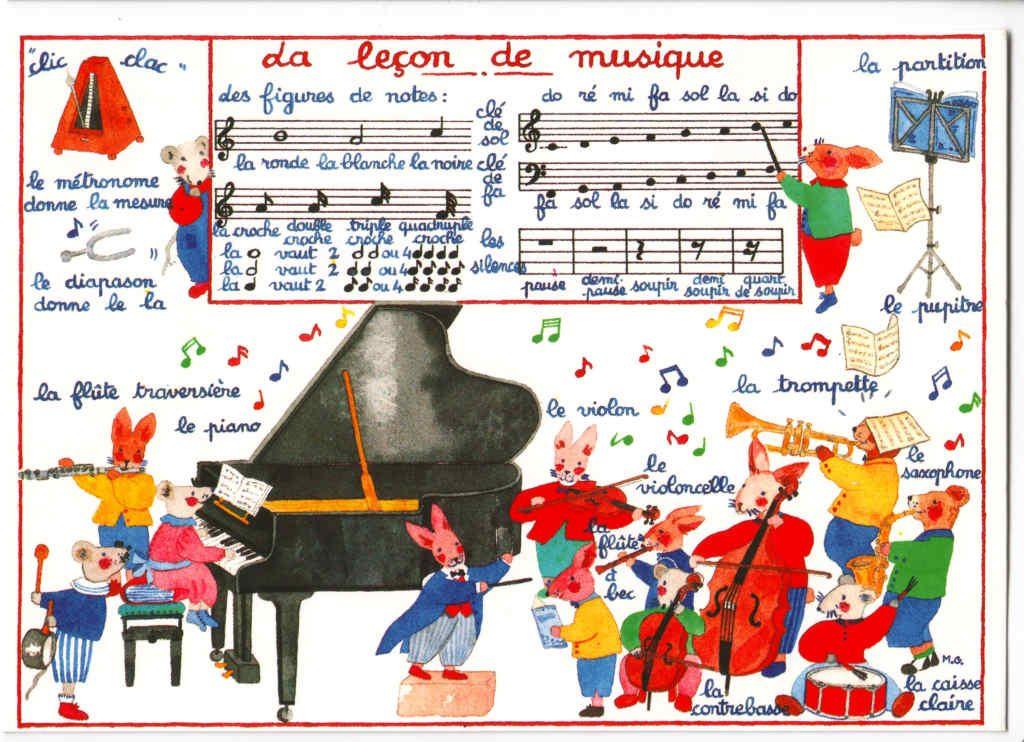 """Indexation : Lapin##Légende : """"La leçon de musique"""" ##Epoque : Moderne##Propriété : Ani-033-Roy"""
