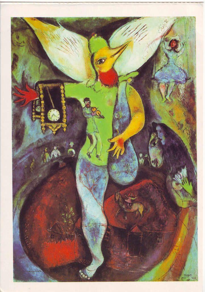 Indexation : Le jongleur (1943)##Huile sur toile, 110.5 x 78.7 cm##Auteur : Marc Chagall (1887-1985)##Epoque : Moderne##Propriété : Pei 014 - Roy