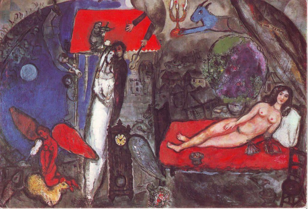 Indexation : A ma femme (1933-1944)##Huile sur toile, 130.5 x 194.7 cm##Auteur : Marc Chagall (1887-1985)##Epoque : Moderne##Propriété : Pei 016 - Roy