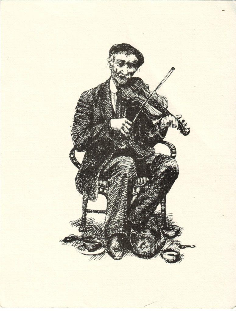 Indexation : Violoniste##Auteur : Barnell (1980)##Epoque : Moderne##Propriété : Des-010-Roy