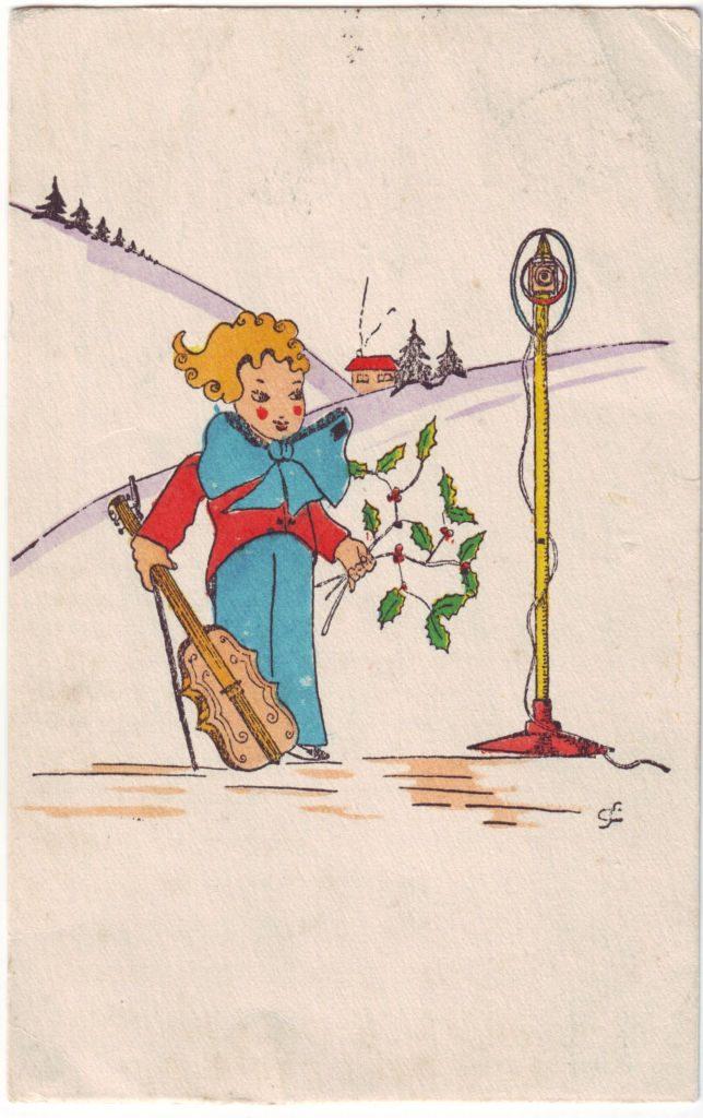 Indexation : Enfant au violon##Epoque : Ancienne##Propriété : Des-027-Roy