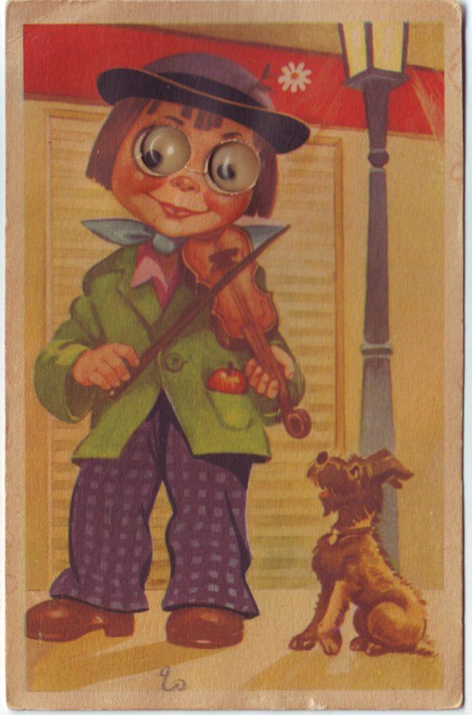 Indexation : Enfant au violon##Epoque : Ancienne##Propriété : Des-033-Roy