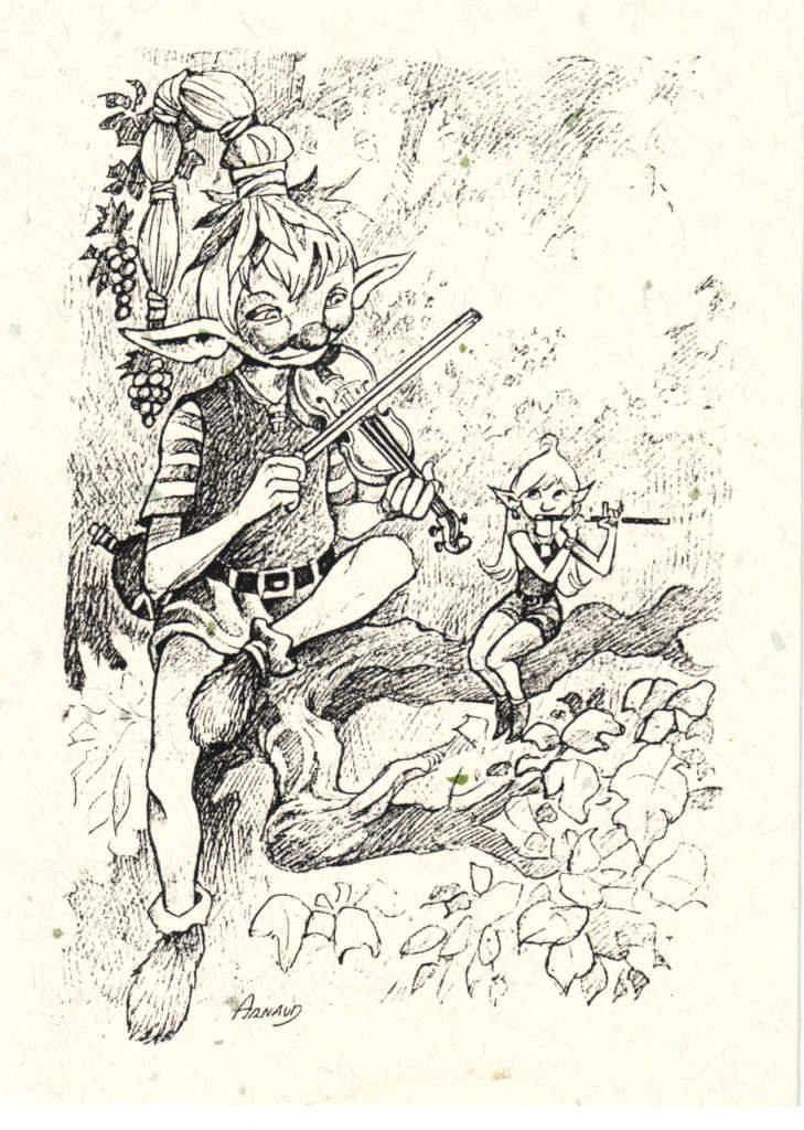 Indexation : Elfe au violon ##Auteur : Arnaud##Epoque : Moderne##Propriété : Des-036-Roy