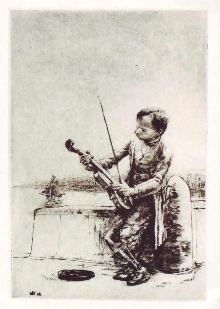 Indexation : Violoniste##Epoque : Moderne##Propriété : Des-037-Roy
