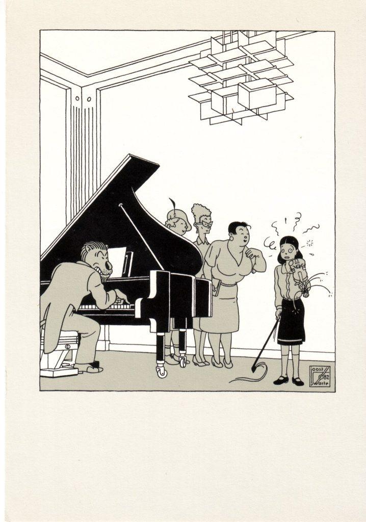 Indexation : Fillette au violon##Editeur : Oost warte C82##Epoque : Moderne##Propriété : Des-040-Roy