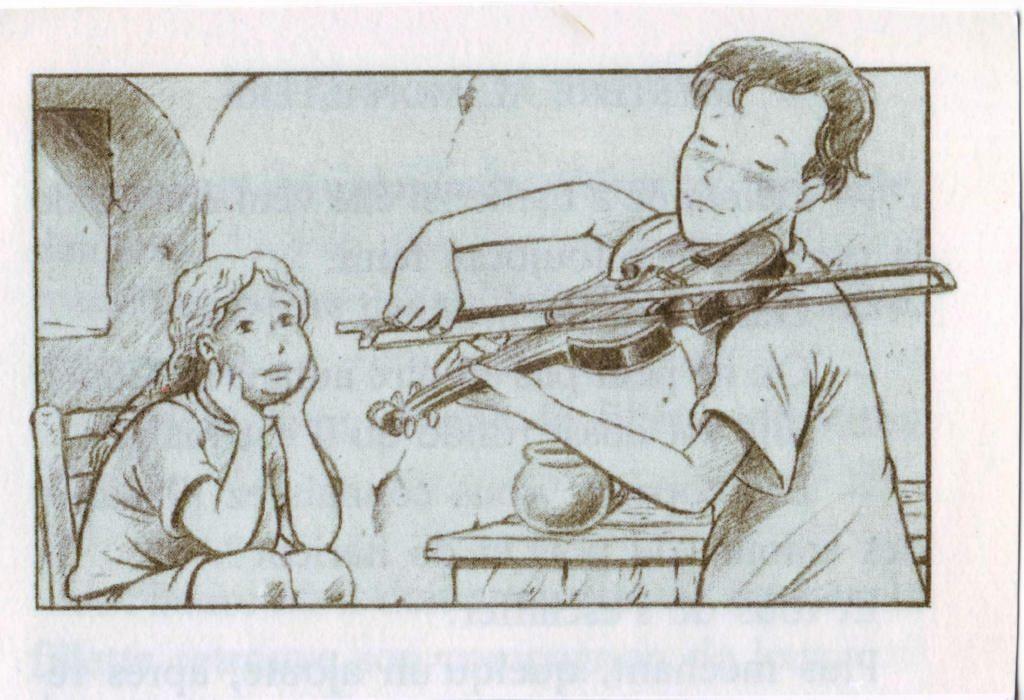 Indexation : Jeune au violon##Epoque : Moderne##Propriété : Des-042-Roy
