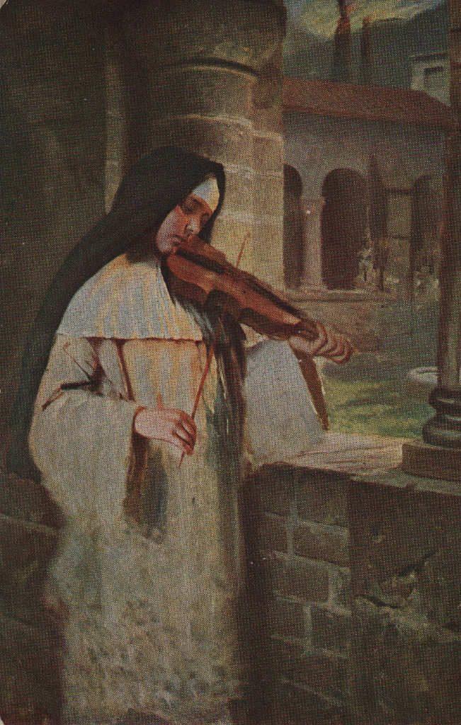 Indexation : Religieuse au violon##Epoque : Ancienne##Propriété : Des-053-mdv
