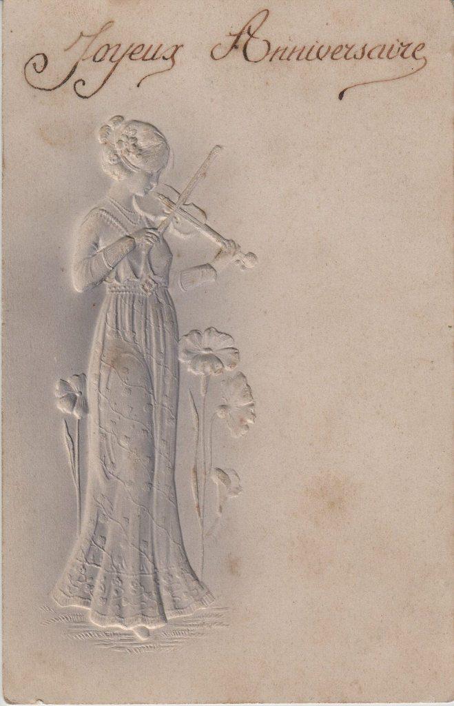 Indexation : Femme au violon##Epoque : Ancienne##Propriété : Des-054-mdv