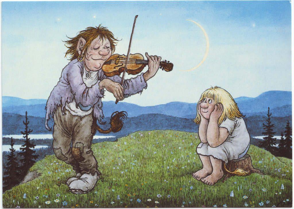 Indexation : Elfe au violon##Epoque : Moderne##Propriété : Des-055-Roy