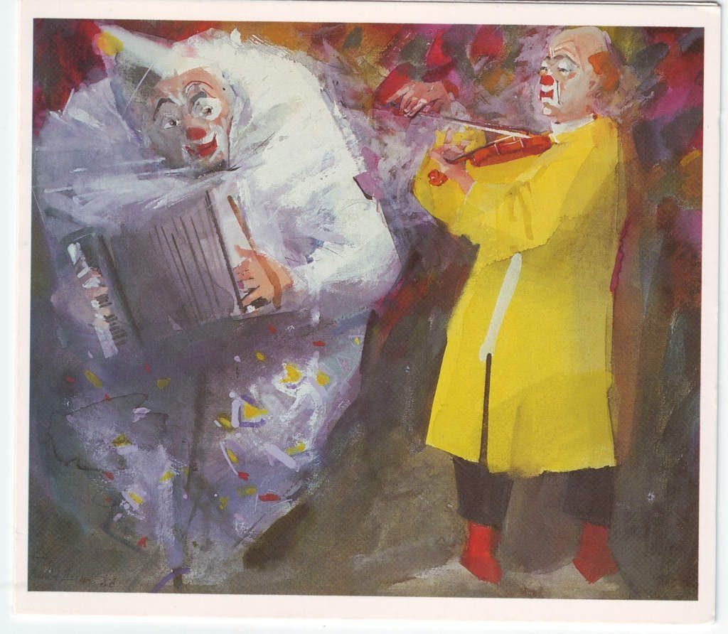 Indexation : Clowns au violon et accordéon##Epoque : Moderne##Propriété : Des-064-Roy