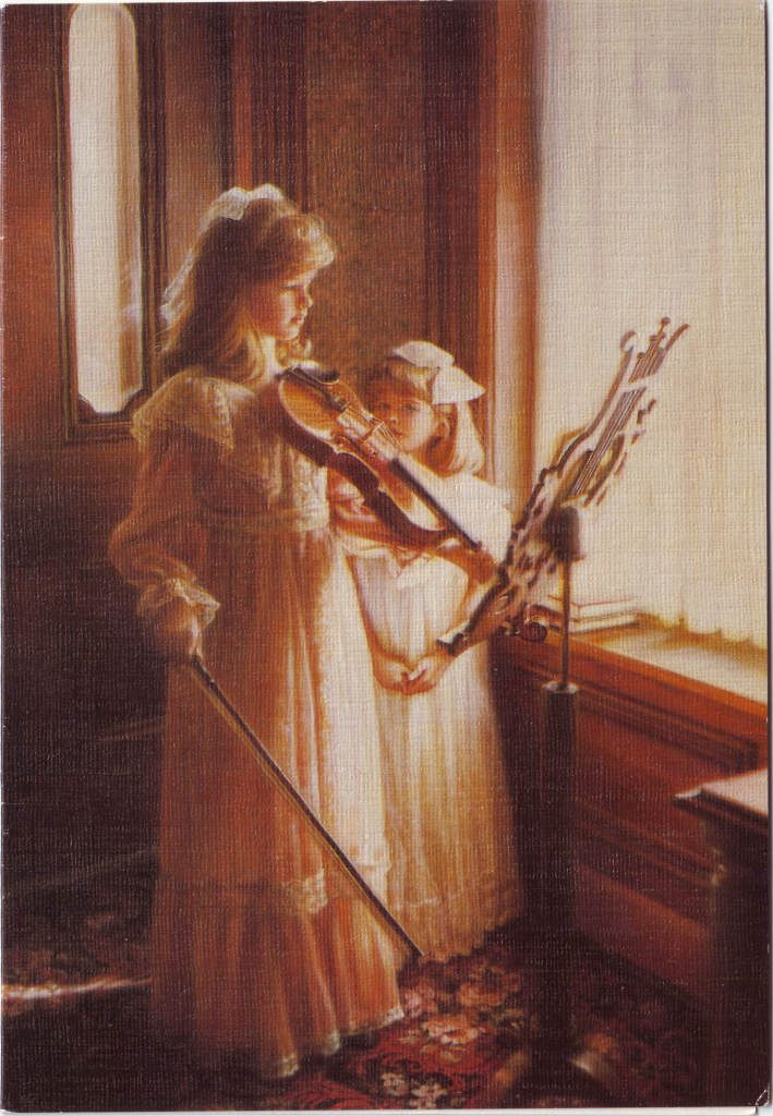 Indexation : Fillette au violon##Epoque : Moderne##Propriété : Des-066-mdv