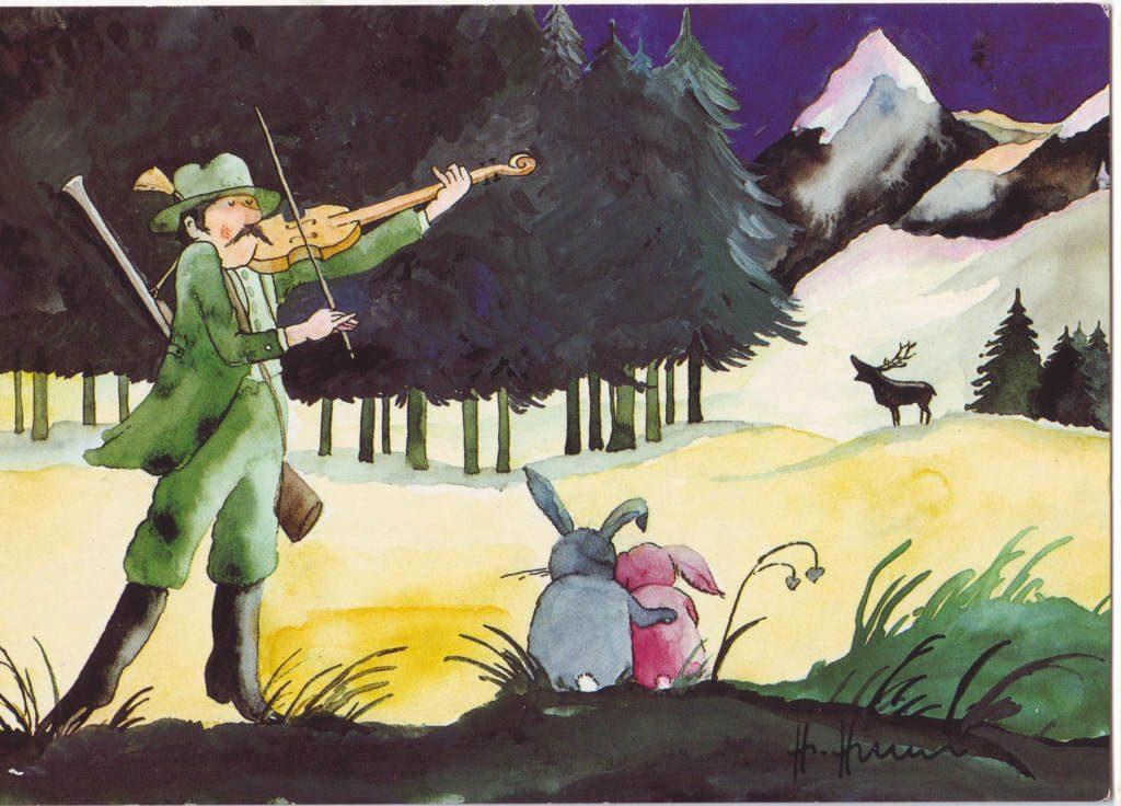 Indexation : Chasseur au violon##Epoque : Moderne##Propriété : Des-079-Roy
