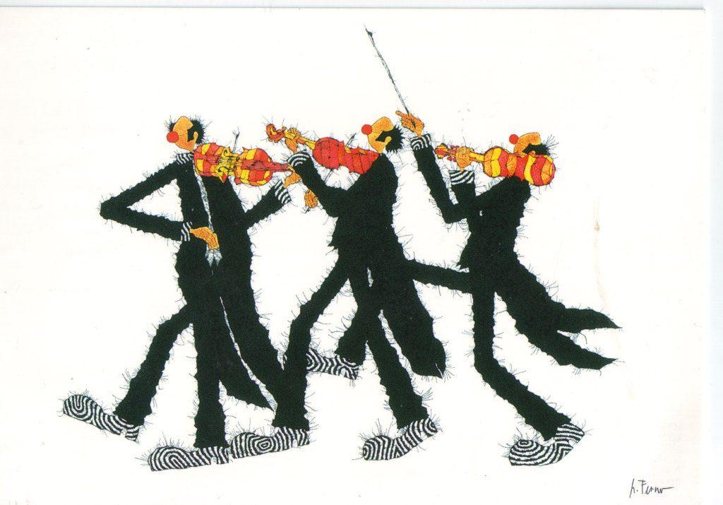 Indexation : Trio au violon##Epoque : Moderne##Propriété : Des-085-Roy