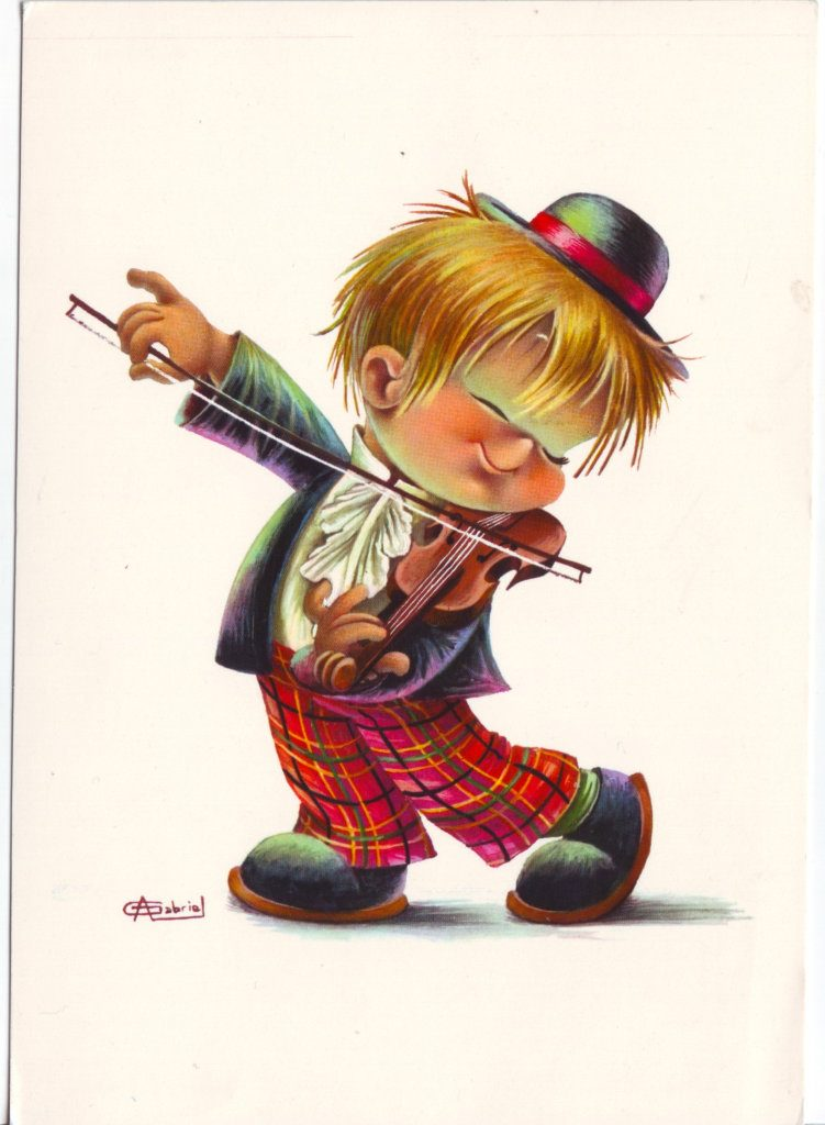 Indexation : Jeune violoniste##Auteur : A. Gabriel##Epoque : Moderne##Propriété : Des-087-Roy