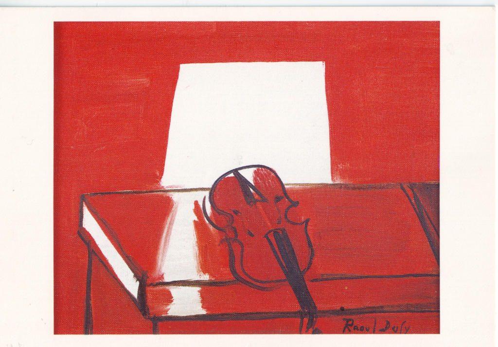Indexation : Le violon rouge, 1949##Huile sur toile, 22,5 x 27.5 cm##Auteur : Raoul Dufy (1877-1953)##Epoque : Moderne##Propriété : Pei 008 - Roy