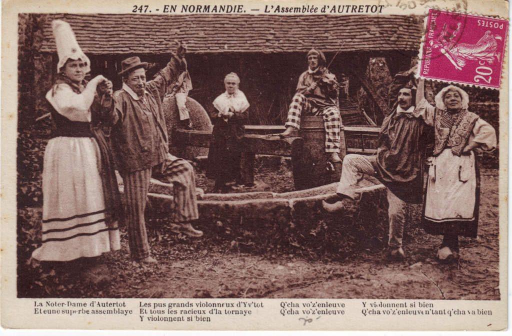 Indexation : 247. En Normandie, l'assemblée d'Autretot##Epoque : Ancienne##Propriété : Folk-028-Roy
