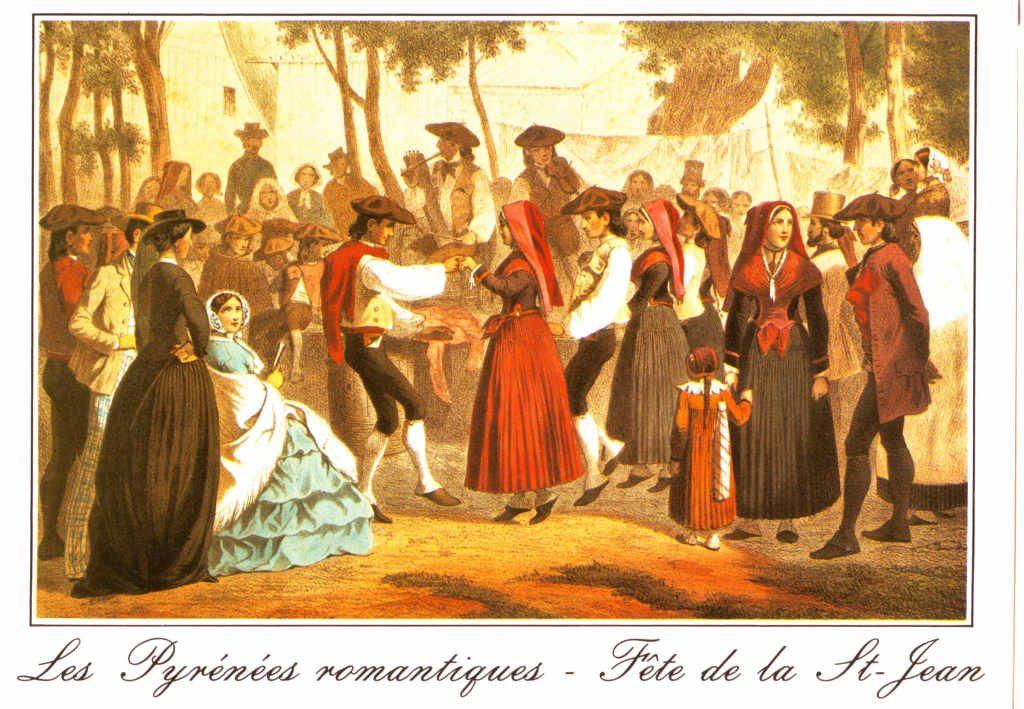 """Indexation : """"Les pyrénées romantiques##Fête de la Saint-Jean""""##Epoque : Ancienne##Propriété : Folk-032-Roy"""
