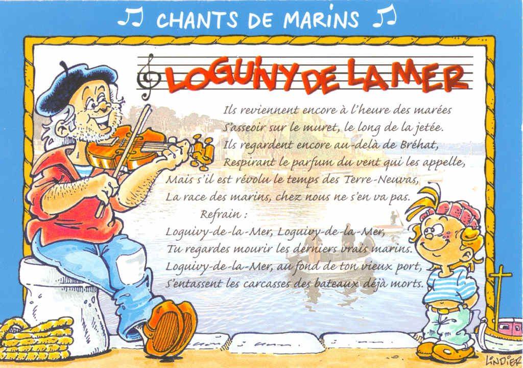 """Indexation : """"Loguny-de-la-Mer, Chants de marins""""##Editeur : Lindier##Epoque : Moderne##Propriété : Folk-044-Roy"""
