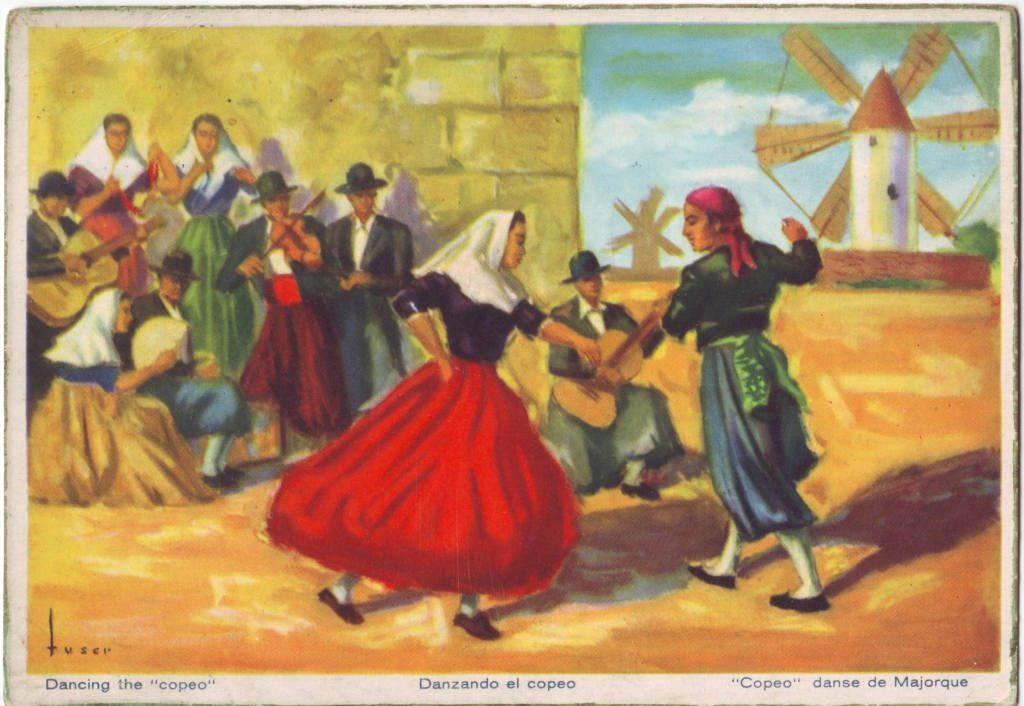 """Indexation : """"Copéo, danse de Majorque""""##Epoque : Moderne##Propriété : Folk-047-Roy"""