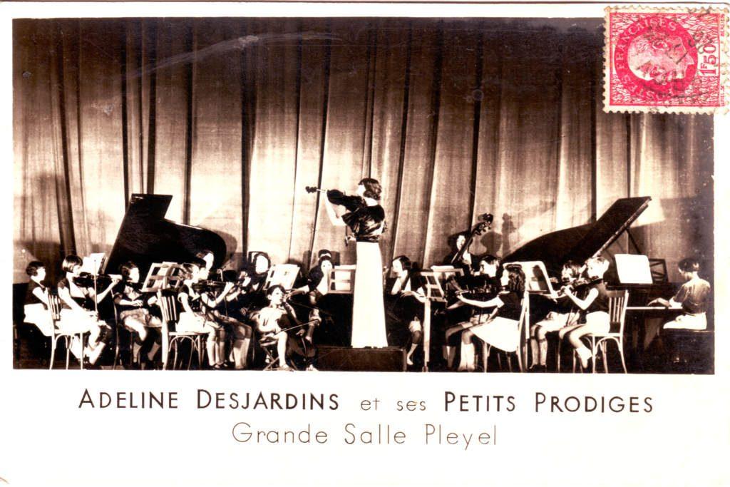 Indexation : Adeline Desjardins et ses petits prodiges##Epoque : Ancienne##Propriété : Gem-023-Roy