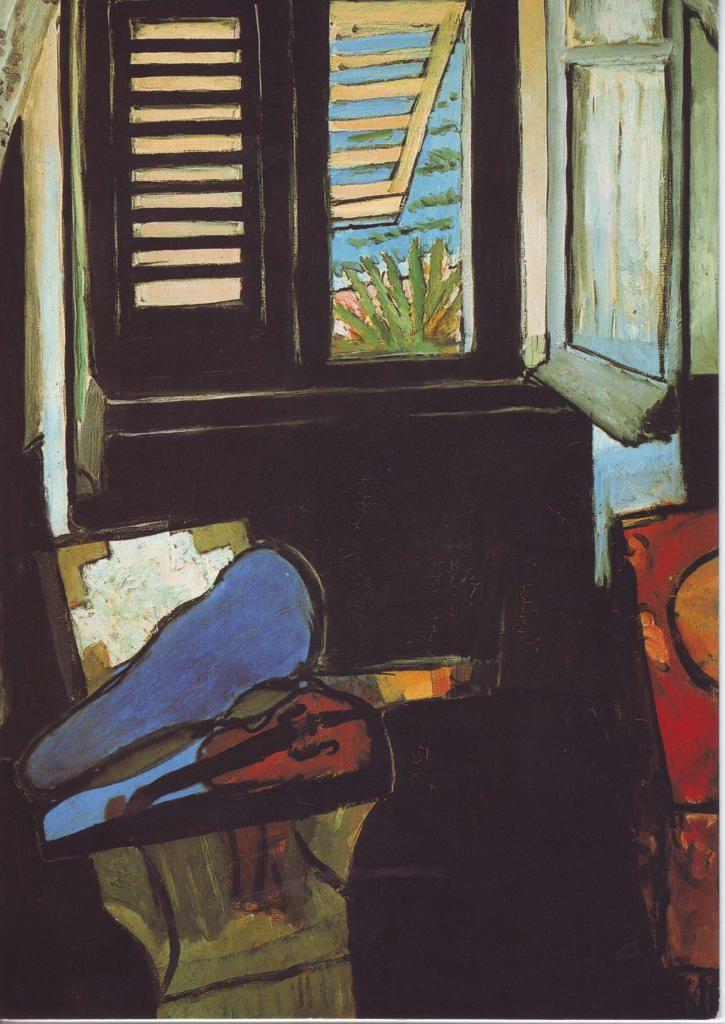 Indexation : Intérieur au violon, 1918-1921##Huile sur toile, 89 x 116 cm##Auteur : Henri Matisse (1869-1954)##Epoque : Moderne##Propriété : Pei-019-Roy