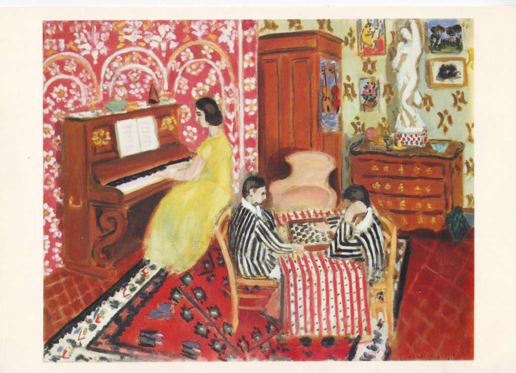 Indexation : Pianiste et joueurs de dames, 1924##Huile sur toile, 73,7 x 92,4 cm##Auteur : Henri Matisse (1869-1954)##Epoque : Moderne##Propriété : Pei-020-Roy