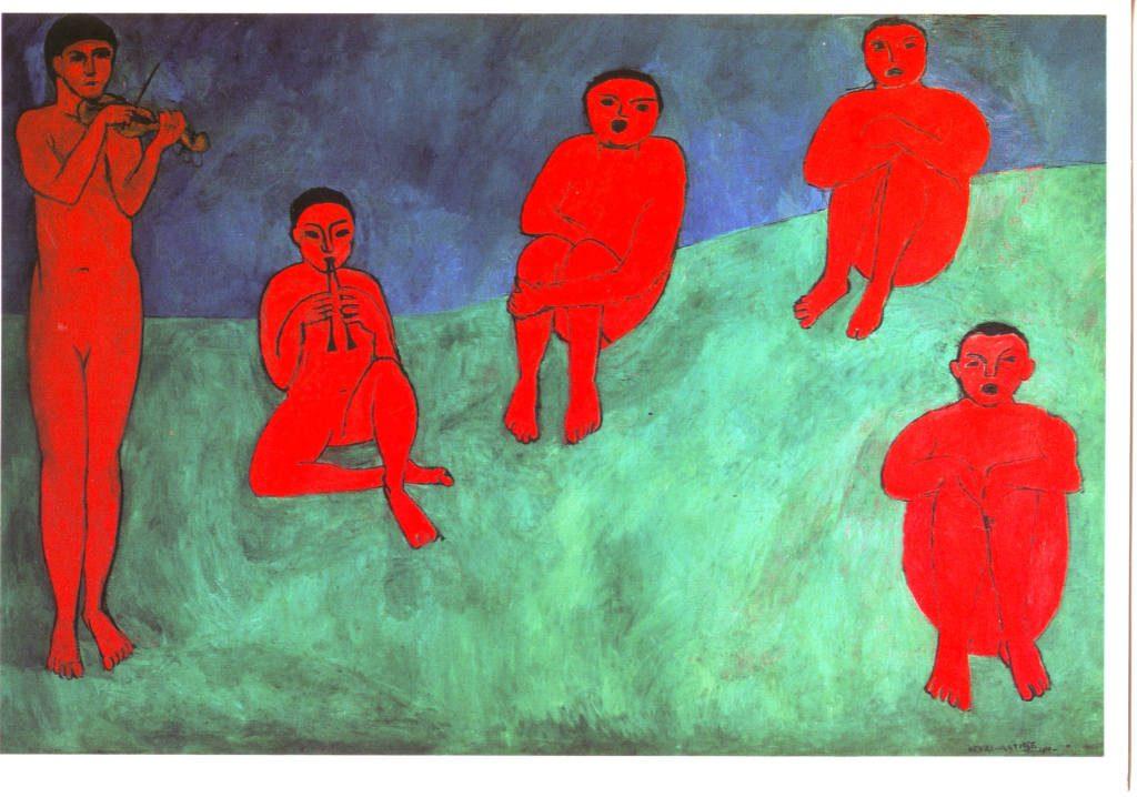 Indexation : La Musique, 1910##Huile sur toile, 260 x 389 cm##Auteur : Henri Matisse (1869-1954)##Epoque : Moderne##Propriété : Pei-021-Roy