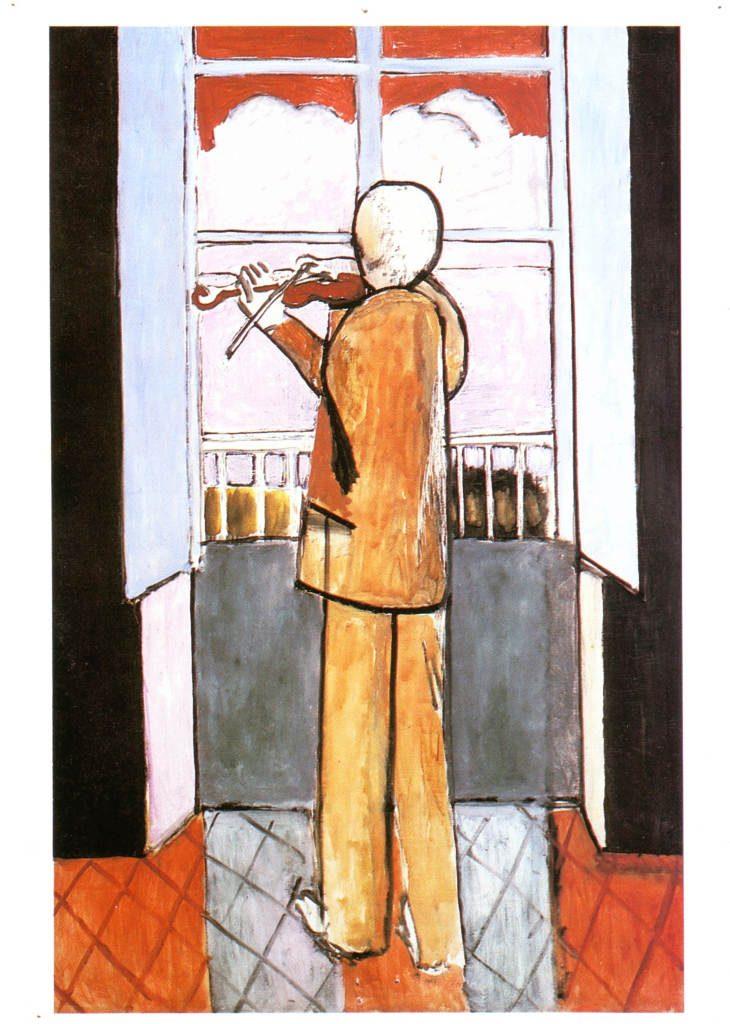 Indexation : Le violoniste à la fenêtre, 1918##Huile sur toile, 150 x 98 cm##Auteur : Henri Matisse (1869-1954)##Epoque : Moderne##Propriété : Pei-022-Roy
