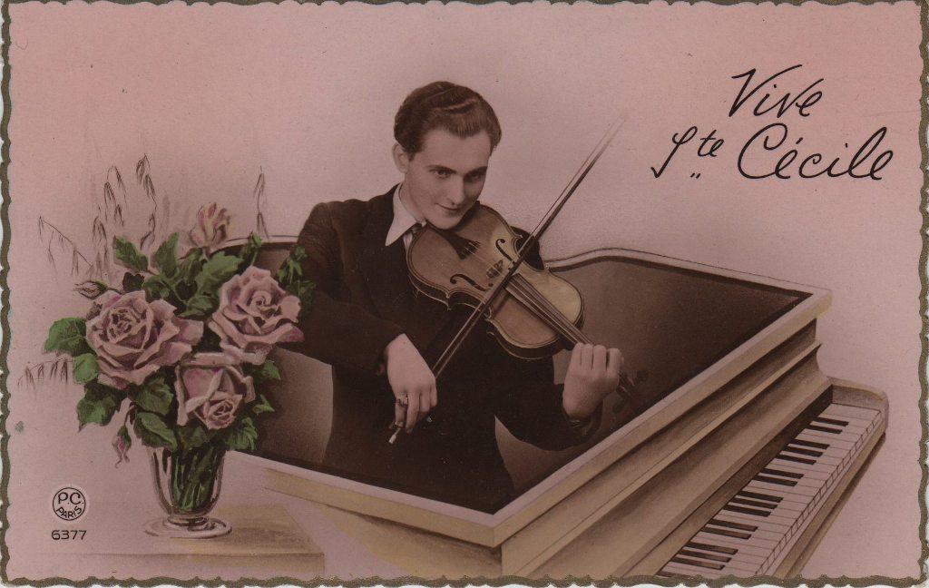 Indexation : Violoniste et piano##Editeur : P. C. Paris, 6377/3##Epoque : Ancienne##Propriété : Por-010-mdv