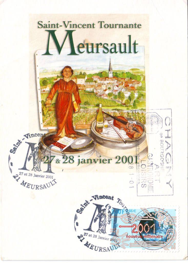 Indexation : Fête vinivole en Bourgogne##Légende : Saint-Vincent Tournante##27-28 janvier 2001##Epoque : Moderne##Propriété : Pub-019-Roy