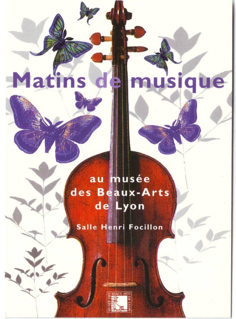 """Indexation : Affiche exposition##Légende : """"Matins de Musique, au musée des Beaux-Arts, Lyon""""##Epoque : Moderne##Propriété : Pub-023-Roy"""