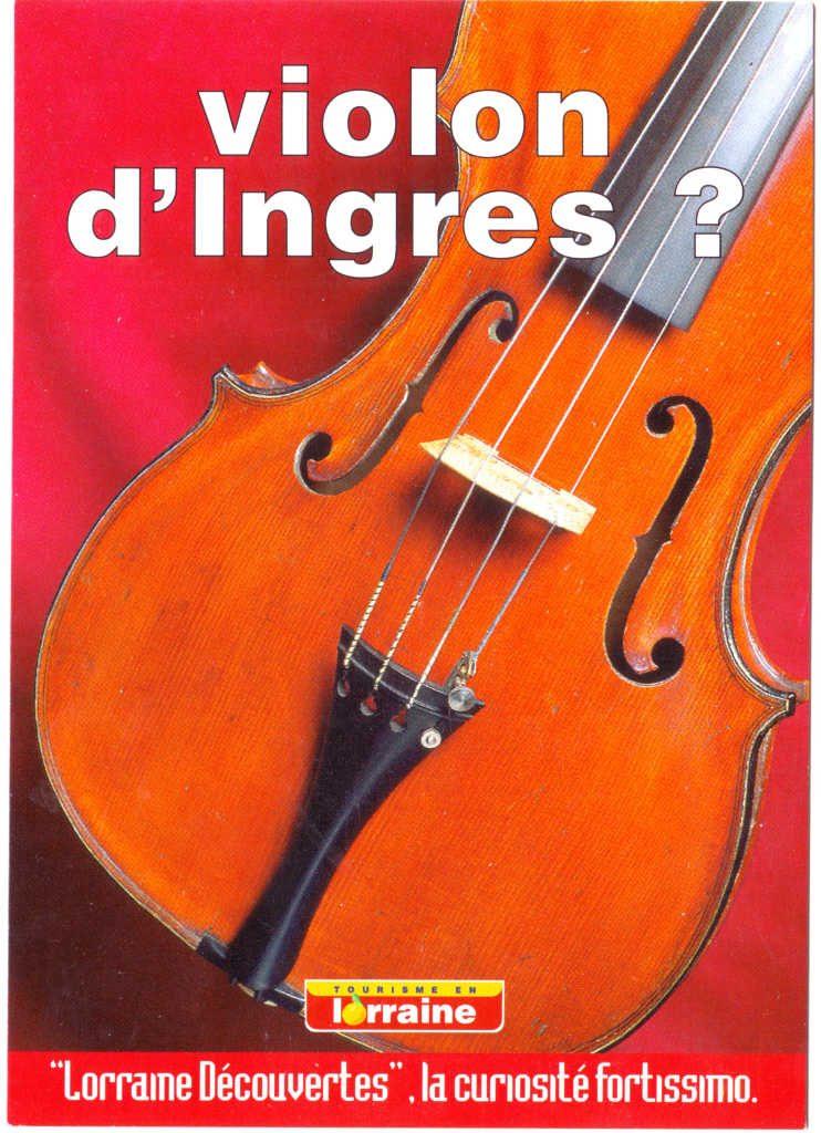 """Indexation : Affiche festival##Légende : """"Violon d'Ingre ? Lorraine découvertes""""##Epoque : Moderne##Propriété : Pub-024-Roy"""
