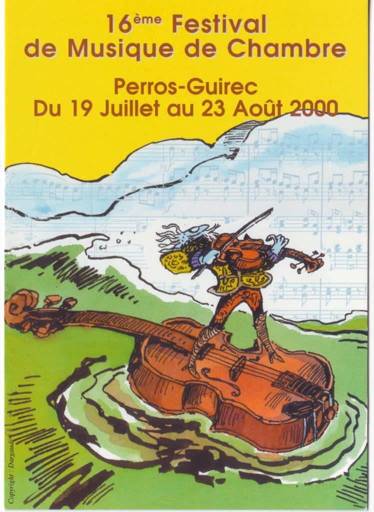 """Indexation : Affiche festival##Légende : """"Perros-Guirec, 16ème festival de musique de chambre""""##Epoque : Moderne##Propriété : Pub-026-Roy"""