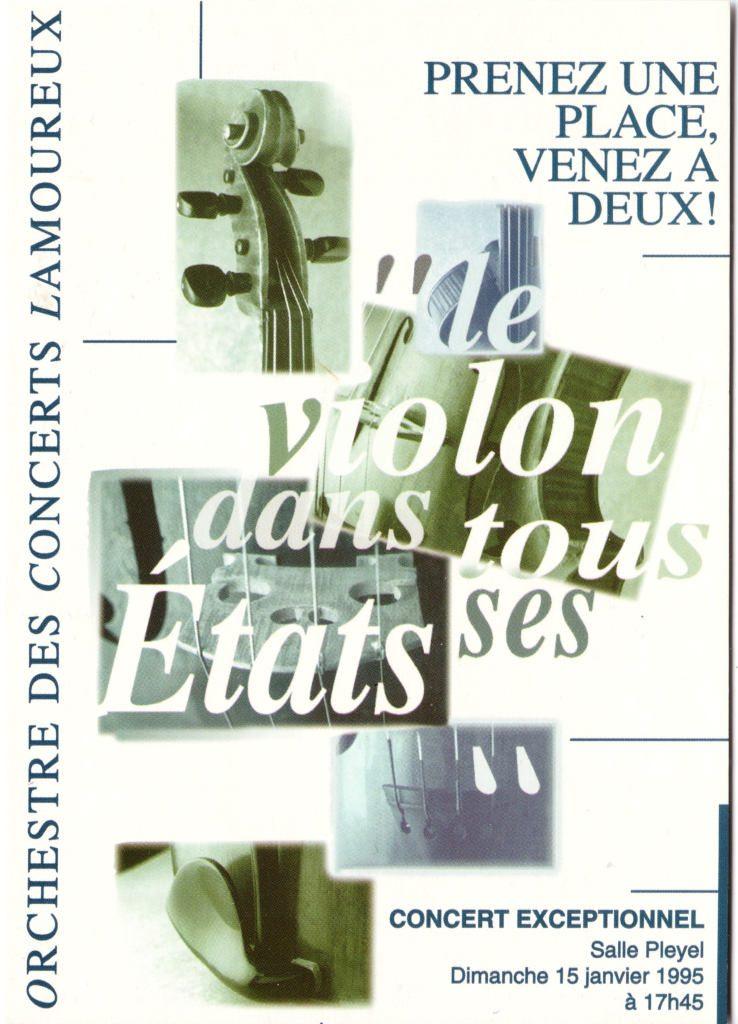 """Indexation : Affiche festival##Légende : """"Le Violon dans tous ses états,##Salle Pleyel""""##Epoque : Moderne##Propriété : Pub-029-Roy"""