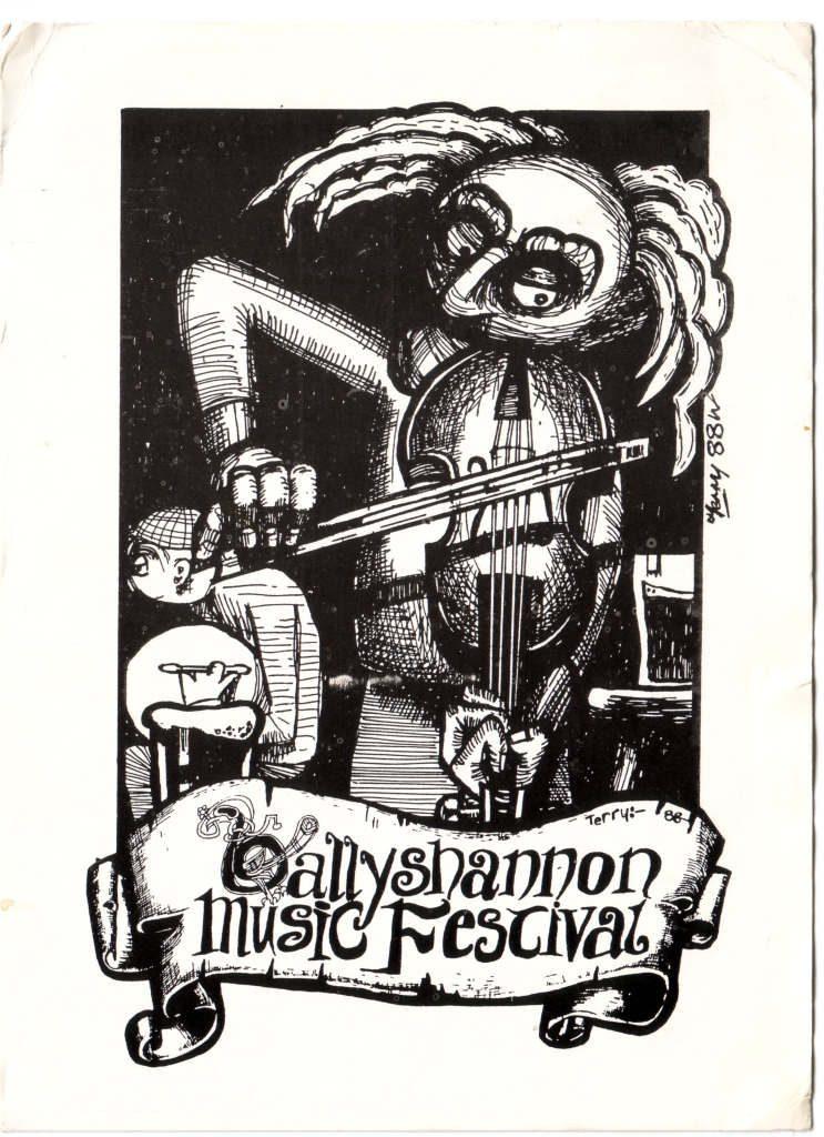 """Indexation : Affiche festival##Légende : """"Ballyshannon, Donnegal, Irland""""##Epoque : Moderne##Propriété : Pub-030-Roy"""