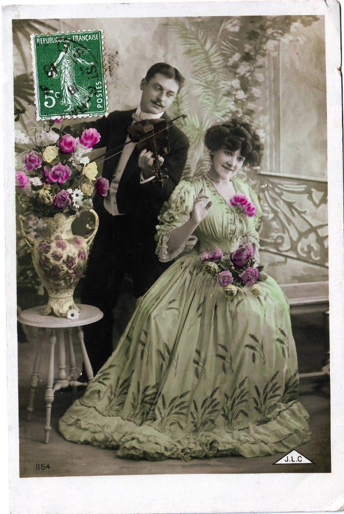 Indexation : Romance au violon##Editeur : J.L.C., 1154##Date : 1908 (affranchissement)##Epoque : Ancienne##Propriété : Série18,01-Roy