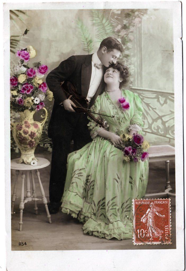 Indexation : Romance au violon##Editeur : J.L.C., 1154##Date : 1908 (affranchissement)##Epoque : Ancienne##Propriété : Série18,03-Roy