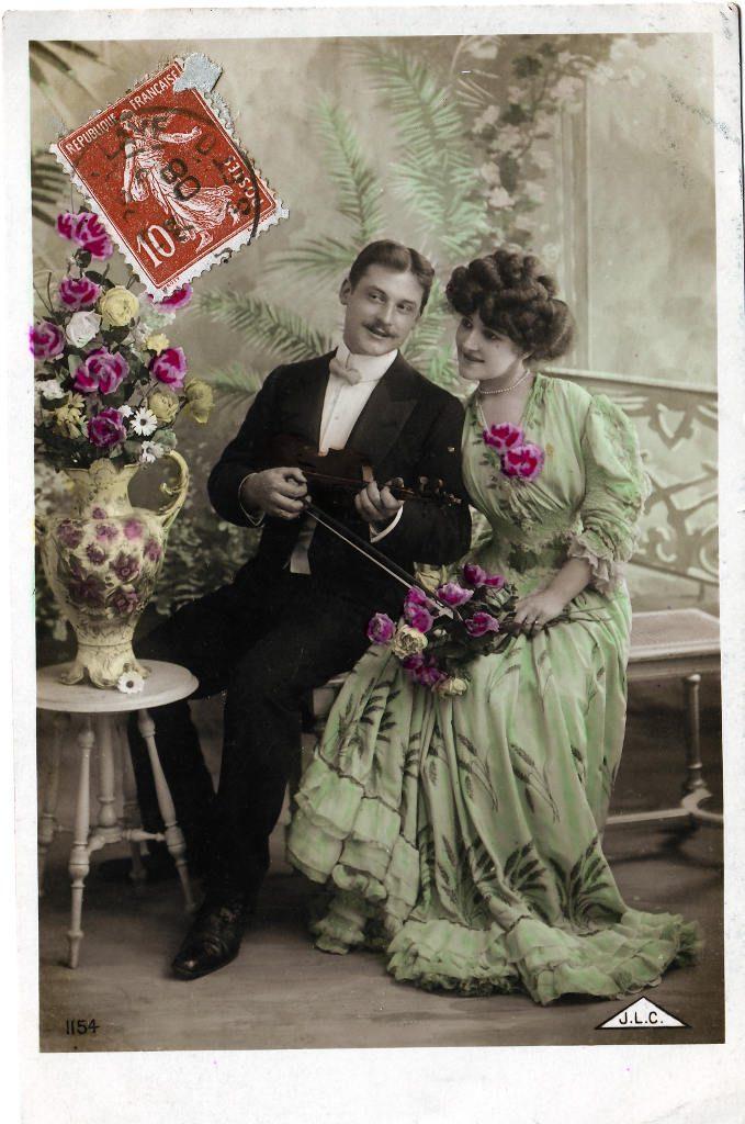 Indexation : Romance au violon##Editeur : J.L.C., 1154##Date : 1908 (affranchissement)##Epoque : Ancienne##Propriété : Série18,04-Roy