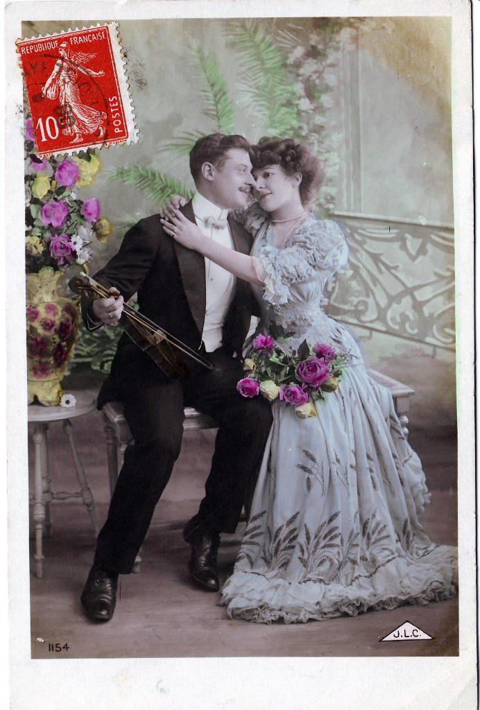 Indexation : Romance au violon##Editeur : J.L.C., 1154##Date : 1908 (affranchissement)##Epoque : Ancienne##Propriété : Série18,05-Roy